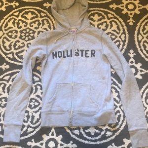 Hollister full zip hoodie